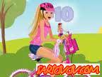 Barbie Bisiklet Sürme Oyunu