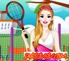 Barbie Ellie Tenis Hazırlığı Oyunu