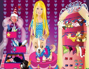 Barbie Köpeği Giydir