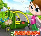 Çiçekçi kız Araba