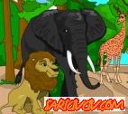 Hayvanat Bahçesi Boyama Oyunu