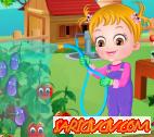 Hazel Bebek Çiçek Bakımı Oyunu