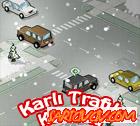 Karlı Yolda Trafik
