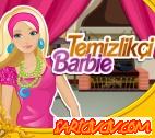 Temizlikçi Barbie Oyunu